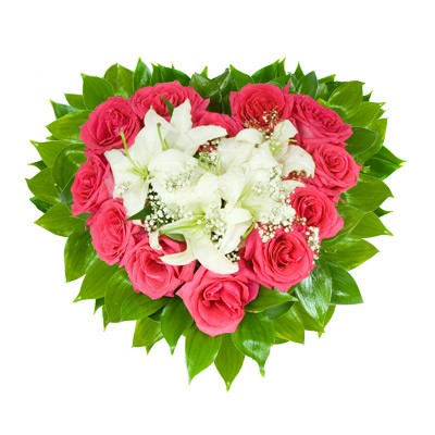 Букет из цветов в губке