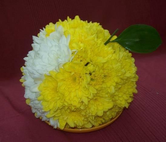 Поделка из цветов в школу своими руками